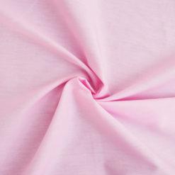 Tissu popeline coton rose de belle qualité