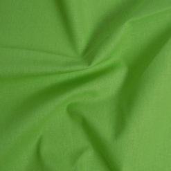 Tissu popeline coton vert pomme de belle qualité