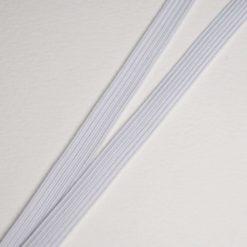 Ruban élastique Blanc, Largeur 8mm