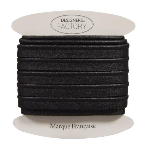 passepoil cuir noir mat