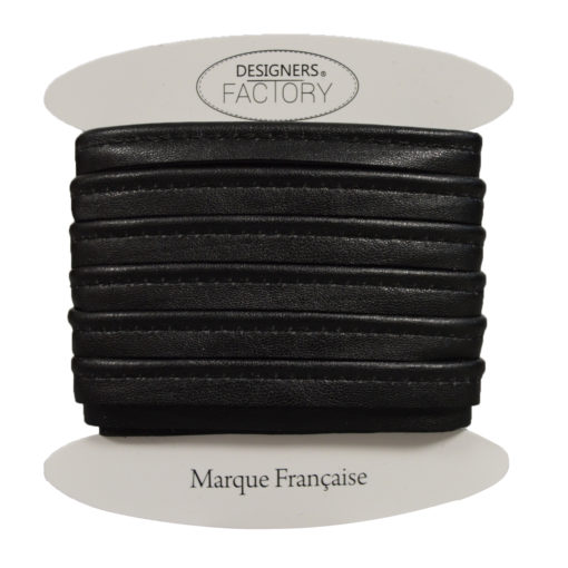 passepoil cuir noir brillant
