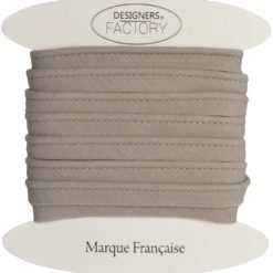 Passepoil coton taupe