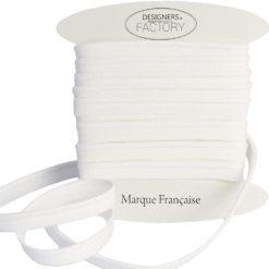 Passepoil coton blanc