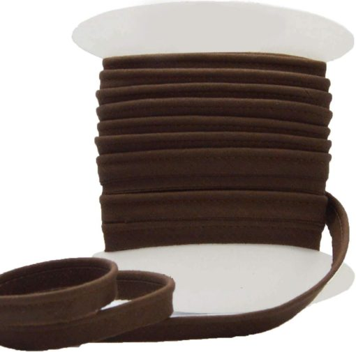 Passepoil coton marron