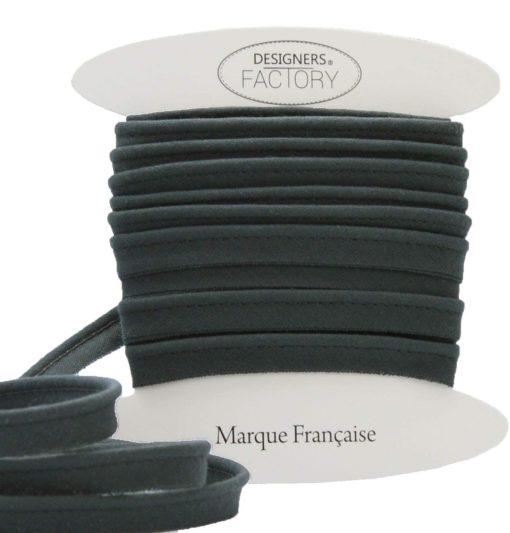 passepoil coton gris anthracite