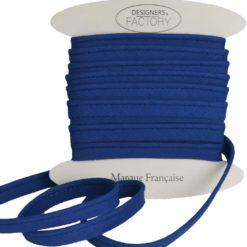 Passepoil coton bleu roi