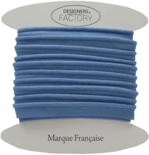 Passepoil coton bleu indigo
