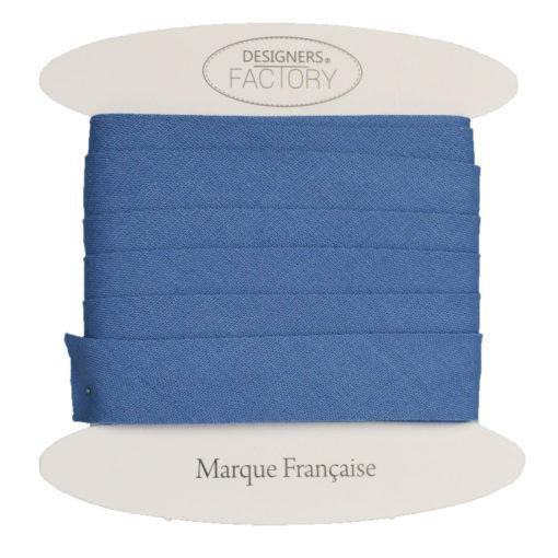 Biais coton bleu indigo - grossiste mercerie