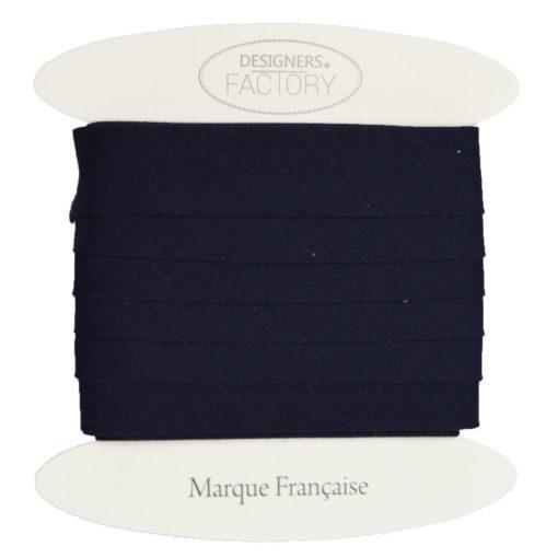 Biais coton marine - grossiste mercerie