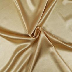 tissu satin doré - grossiste mercerie